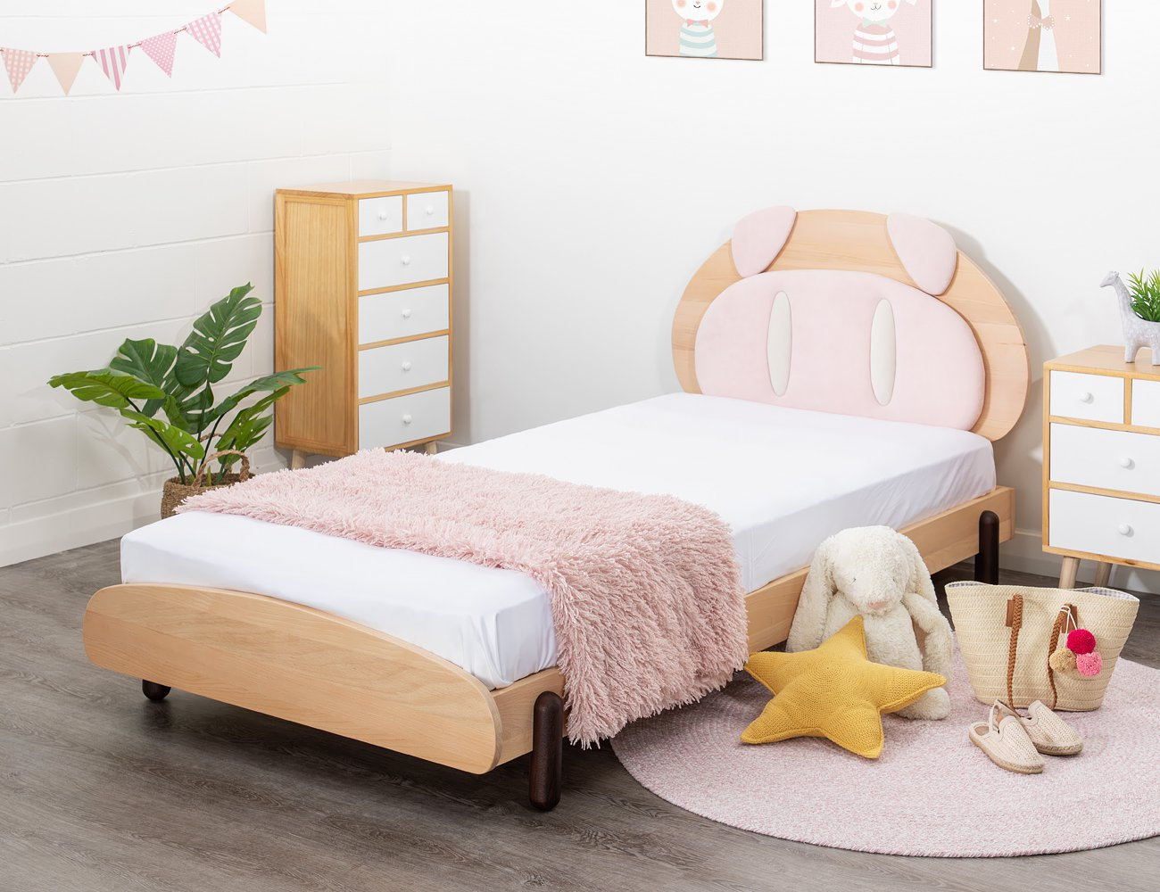 Pig King Single Bed Frame