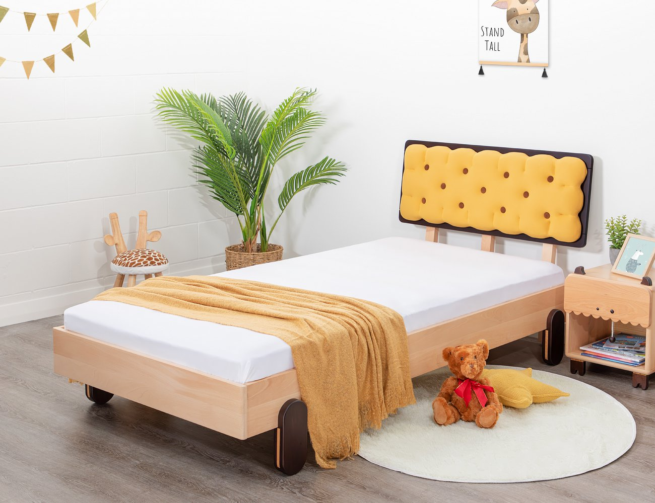 Biscuit Single Bed Frame