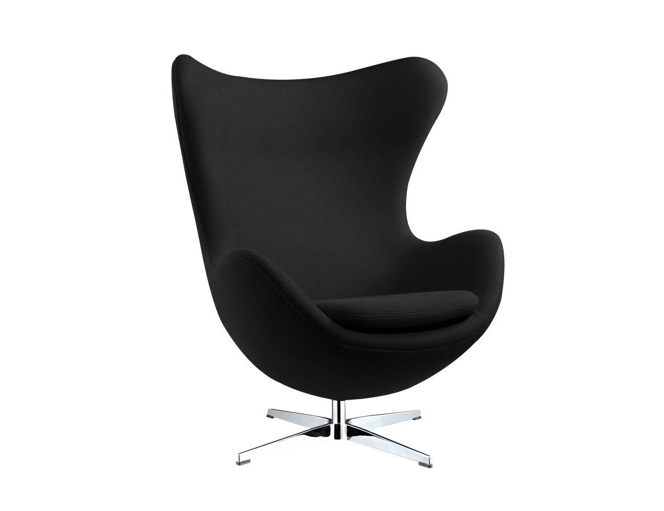 Replica Egg Chair - Black - Fabric